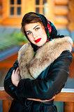 Beautiful Russian girl posing for a photograph