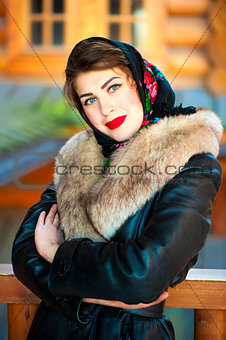 Beautiful Russian girl posing for a photograph