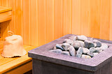 elements steam room sauna closeup