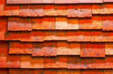 red brick background decoration material