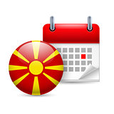 Icon of National Day in Macedonia