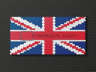 British flag consisting of 3d cubes