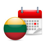 Icon of National Day in Lithuania