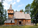 Old Wooden Church in Grywald, Poland