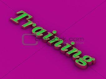 Training - inscription of golden letters