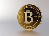 Bitcoin on Light Background