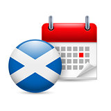 Icon of National Day in Scotland