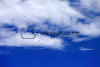 Blue sky with clouds in summer day