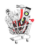 Many Tools in shopping cart