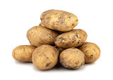 Heap of ripe potato