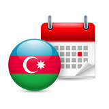 Icon of National Day in Azerbaijan