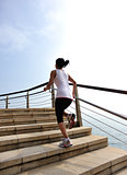 fitness woman running  seaside
