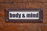body and mind  label