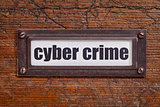 cyber crime - file cabinet label