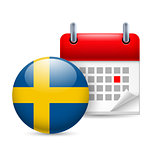 Icon of National Day in Sweden