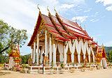Wat Chalong or Chaitharam Temple in Phuket, Thailand.