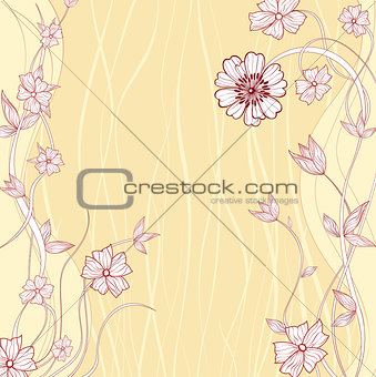 Abstract Daisy Flower Frame