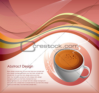 Abstract Coffe Cup Background