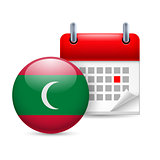 Icon of National Day in Maldives