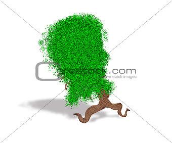 Abstract fantasy running tree