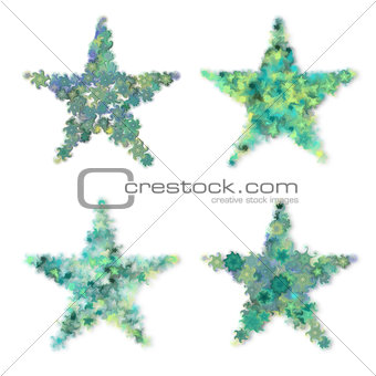 Abstract green stars