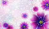Purple flowers design