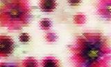 Purple mosaic flowers