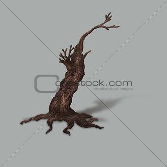 Small dead tree