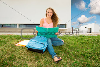Beautiful teenager student