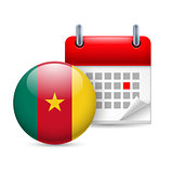 Icon of National Day in Cameroon
