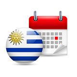 Icon of National Day in Uruguay