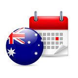 Icon of National Day in Australia
