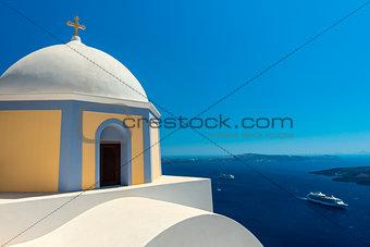 Church in Fira Town, Santorini, Greece