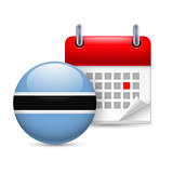 Icon of National Day in Botswana