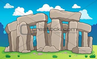 Ancient stone monument theme 2