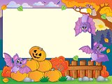 Autumn frame with Halloween theme 7