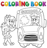 Coloring book school bus theme 3