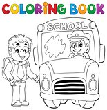 Coloring book school bus theme 4