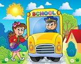 Image with school bus theme 8