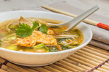 Asian chicken soup with vegetables