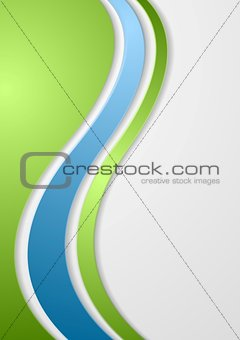 Abstract bright corporate waves background