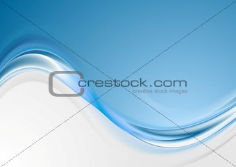 Bright blue wavy abstract background