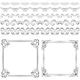 Set of elegant frames and borders