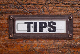 tips - file cabinet label