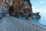 Mylopotamos beach summer view (Greece)