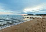 Sunrise on beach (Alykes, Zakynthos, Greece)