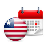 Icon of National Day in Liberia