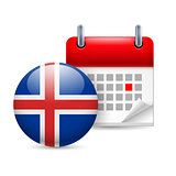 Icon of National Day in Iceland