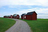 Fishermens old red cabins