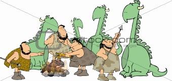 Cavepeople & dinosaurs